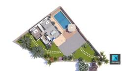 infographiste 3d plan de masse villa jardin residence les palmes