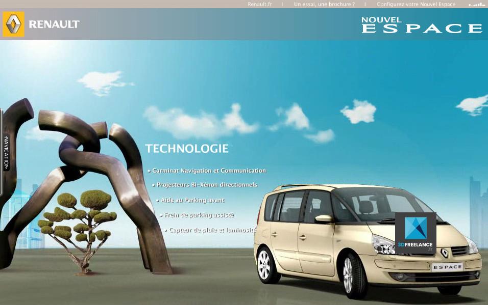 Site de lancement Renault Espace