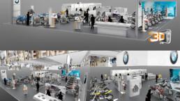 Conception d'un showroom pour BMW au salon de la moto 2014 | Agence: esagency