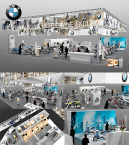 Conception d'un showroom pour BMW au salon de la moto 2014 | Agence: esagency