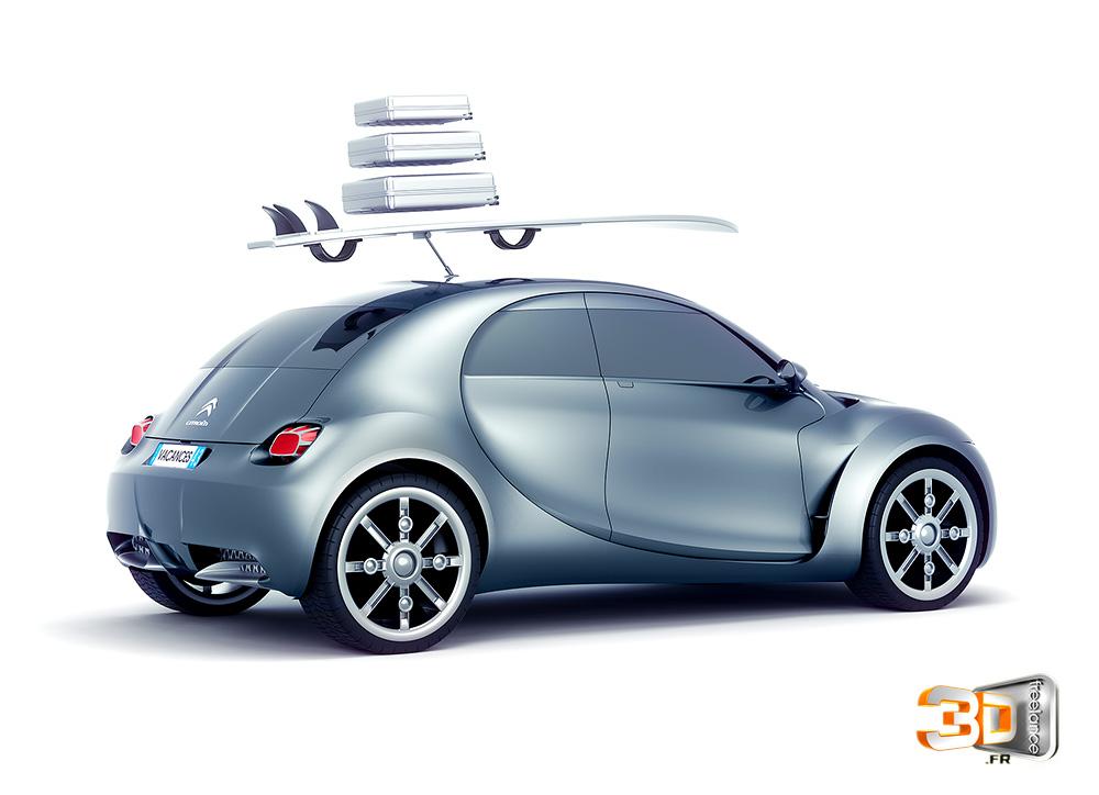 Prototype Citroën en 3D