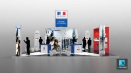 concepteur 3d freelance stand pour salon ministere de la defense