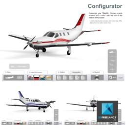 Réalisation d'un Configurateur 3D d'avions pour Daher-Socata TBM850 | Agence: Ame en Science
