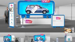 Concepteur de stand pliable pour le Salon de l'Auto