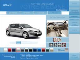 Création d'un Configurateur 3D pour la Megane 4 portes | Client: Renault | Agence: Publicis