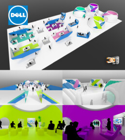 Hall d'exposition de stand Dell Event 2015 - 2000 m2