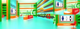 Designer 3D d'un corner shop pour Swatch