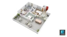 freelance 3d architecture - plan de vente t3 Guadeloupe