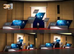 Global Competitiveness Forum   Création de roughs 3D des comptoirs d'enregistrement