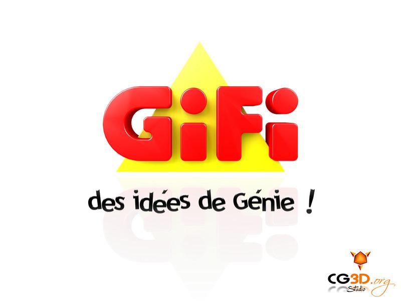 Création du logo officiel en 3D   Client: GIFI