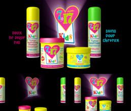 Produits cosmétiques en 3D : flacons 7-17