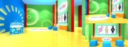 Dessin 3D d'un corner shop Flik Flak