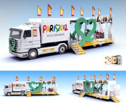Design d'un camion evenementiel en 3D | Client: Publicis Event