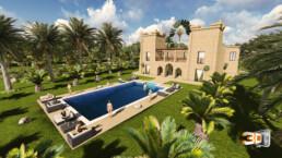 Maison d'hôte à Essaouira | infographie 3d architecture
