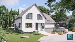image 3D immobilière de maison - freelance 3D