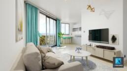 image 3d salon - séjour - Guyane immobilier