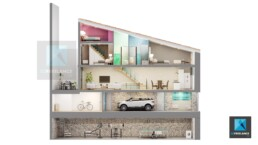 image 3d dollhouse - maison écorché - architecture immobilier