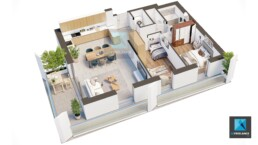 image 3d shoebox appartement