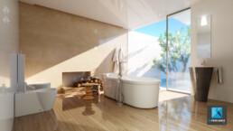 infographiste 3D architecture freelance salle de bain - image 3d salle de bain