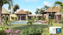infographiste 3d architecture - villa Balinéa