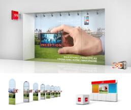 Création de PLV pour les magasins SFR