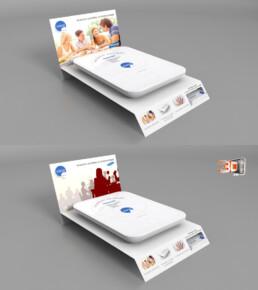 Création d'une PLV en infographie 3D pour une plaque à induction portable