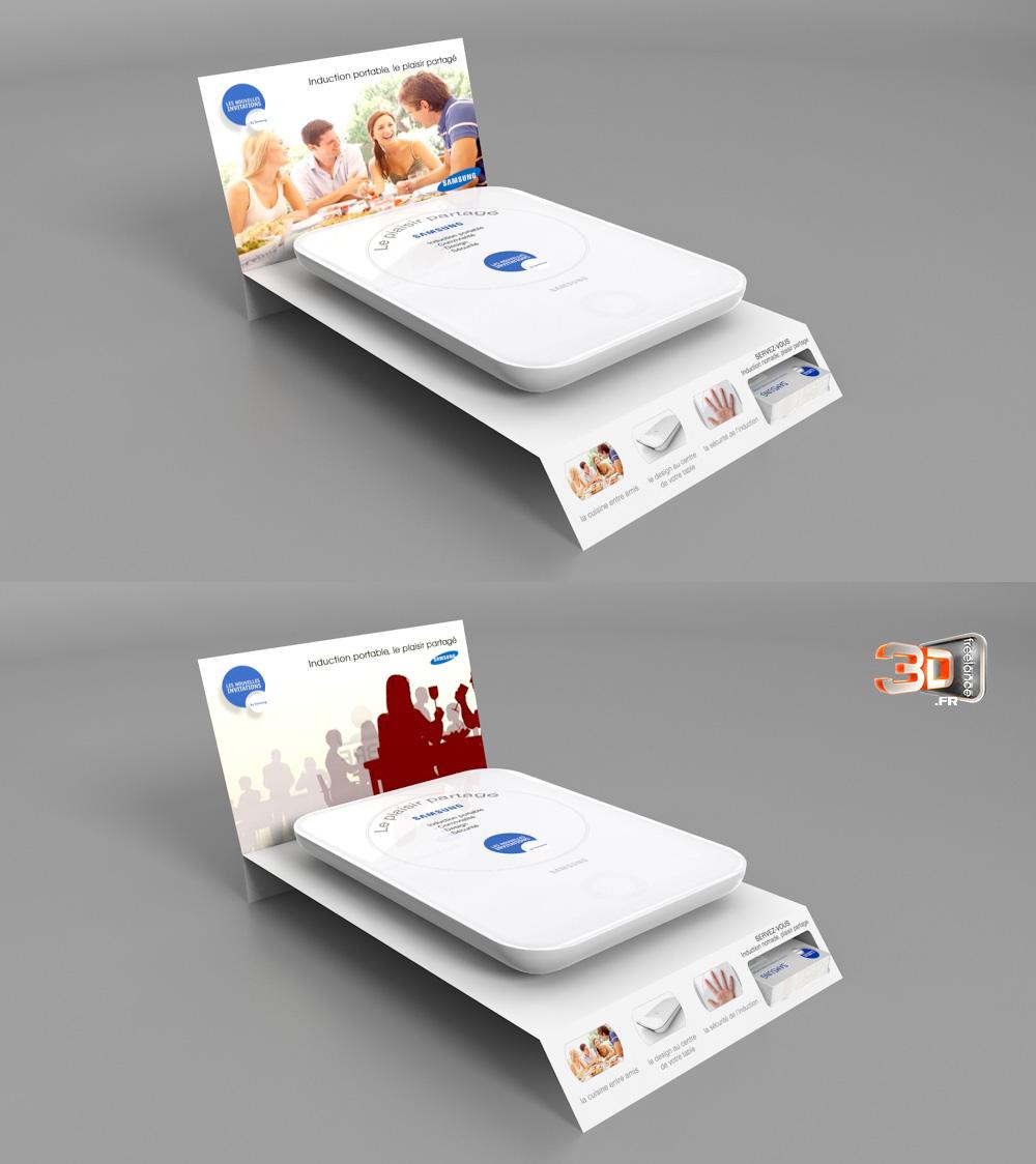 Création d une PLV en infographie 3D pour une plaque à induction portable c0e1ea4615cf