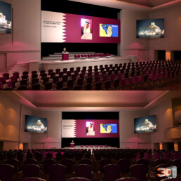 Perspectives 3D de la conférence | Client: The Experience (New York)
