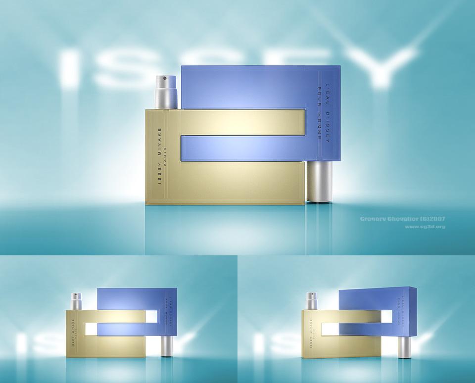 Parfum L'Eau d'Issey   Agence: BPI   Packshot produit en 3D