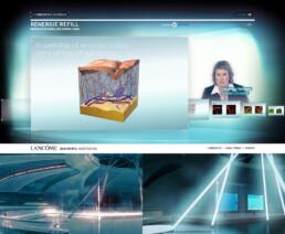 Création du contenu 3D du site Internet Lancôme Rénergie Refill