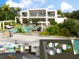 Résidence Balinéa (Ile Maurice) | Images de Synthèse 3D