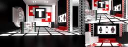 Perspectives 3D d'un corner shop pour Tissot