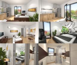 rendus 3d appartement