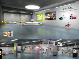 Design d'un Showroom en 3D   Client: L'Oreal Paris