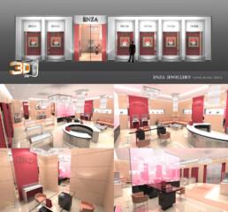 Design de magasins Bijouteries ENZA