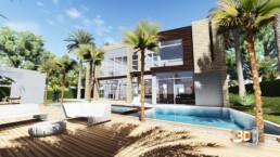 Villas de luxe avec piscine à Dubai | Client : HA Holding | architecte 3 d