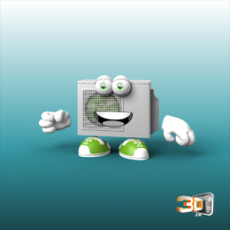 Personnage cartoon en 3D