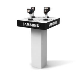 Création d'un meuble présentoir pour appareils photos