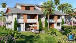 perspective 3D residence Guyane - infographiste