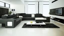 perspective 3d architecture - intérieur séjour salon