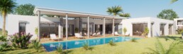 perspective 3d villa de luxe PACA - infographiste 3d architecture freelance Rhône-Alpes - films 3D immobilier