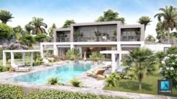 perspective 3d villa ile maurice - mauritius