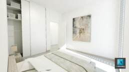 perspective 3d chambre a coucher - freelance architecture