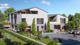 perspective 3d logements collectifs - résidence Lyon