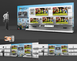 Création d'un meuble TV Connectée en 3D