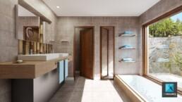 perspectiviste 3d freelance salle de bain - balinea