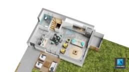 plan 3d immobilier maison Haute-Savoie Auvergne-Rhône-Alpes