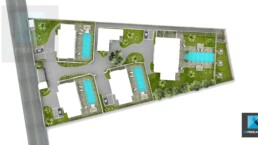plan de masse 3d residence ile Maurice
