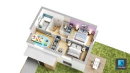 plan de vente 3d architecture maison Haute-Savoie Auvergne-Rhône-Alpes