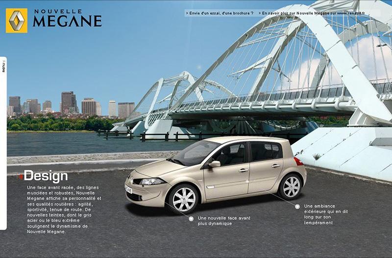 Site de lancement Renault Megane